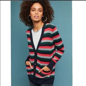 Anthro moth Jamison stripe v neck cardigan